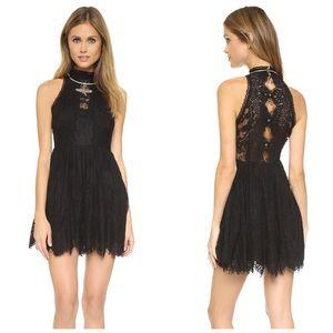 Free People Black Verushka Lace Mini Dress